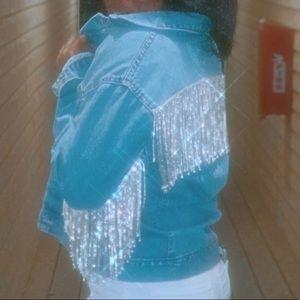 Jackets & Blazers - Rhinestone fringe jacket